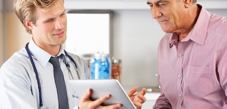 Doctor Shows Patient Computer Screen