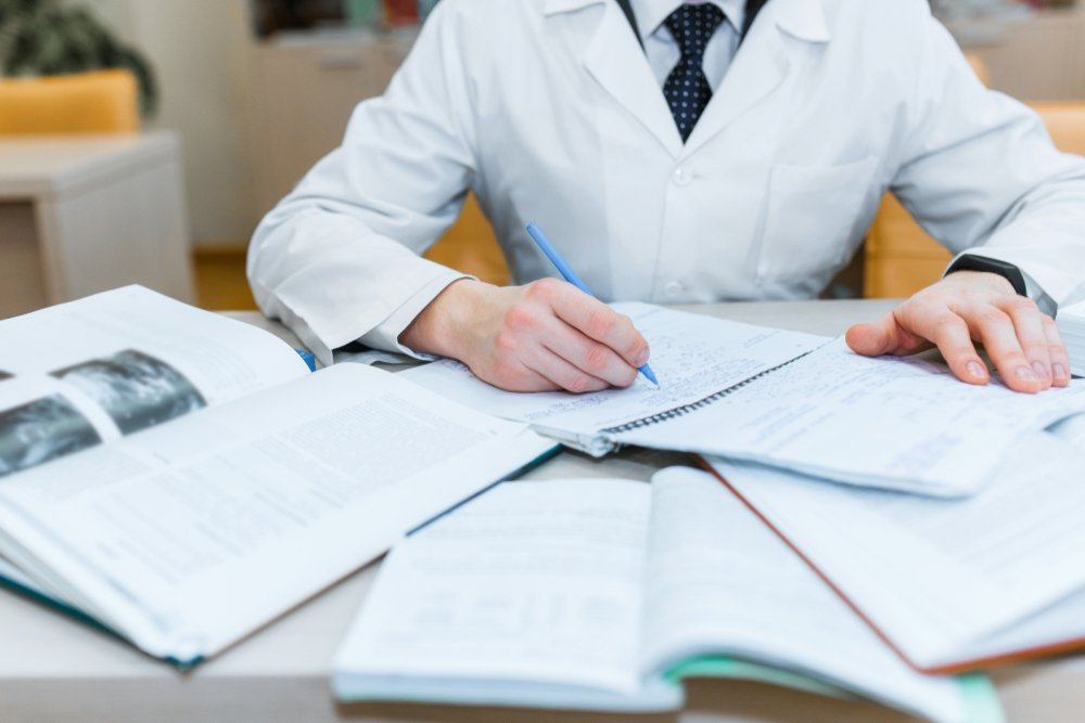 The study of a medical student