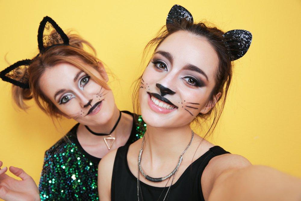 Young Girls having  Halloween look