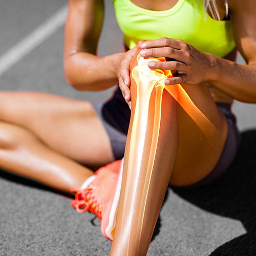 Women having Sports Injury
