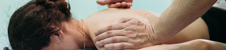 Women having shoulder injury