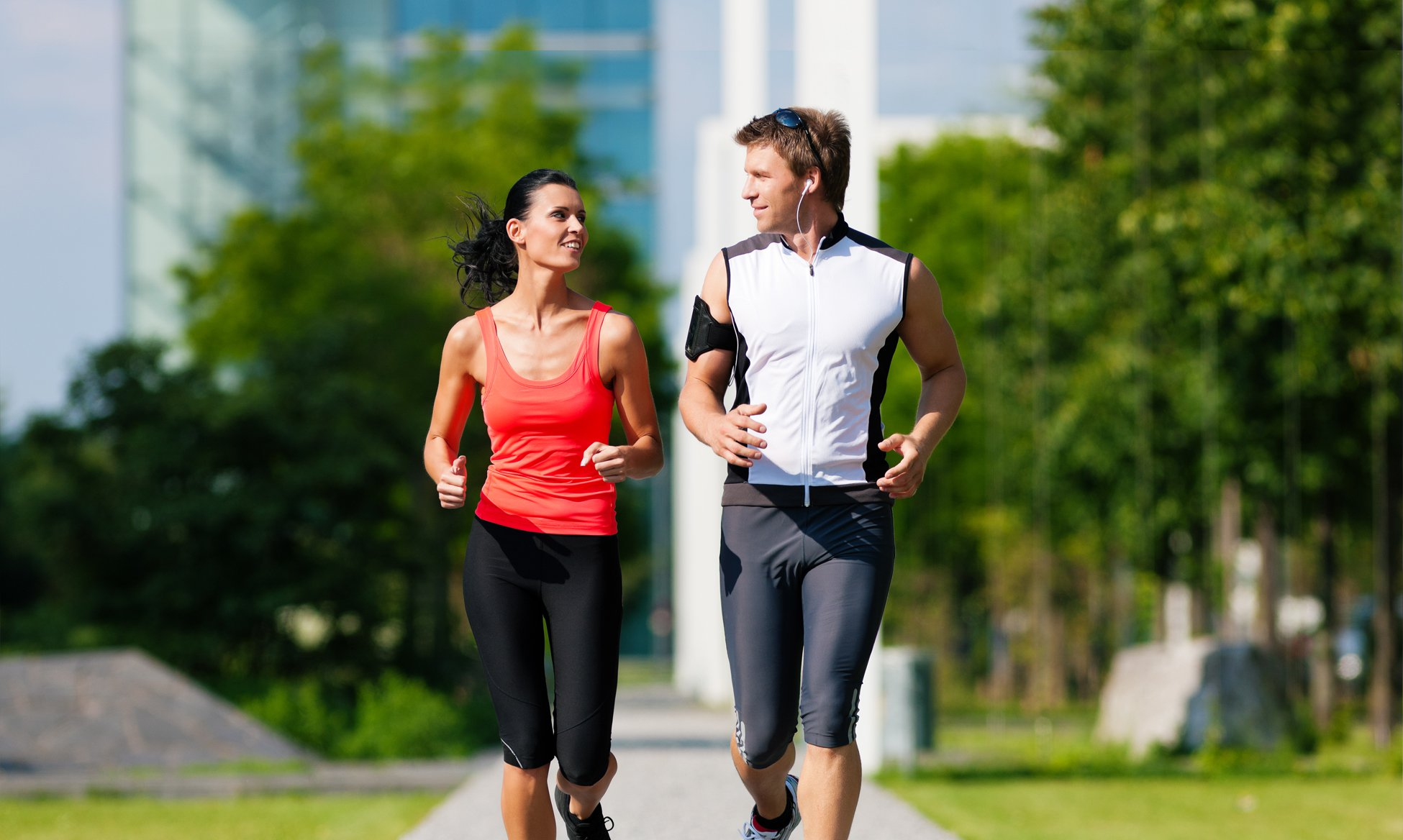 Couple jogging for fitness