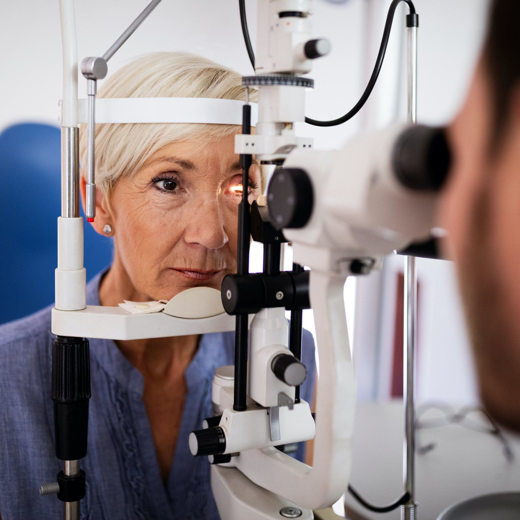 Doctor Checking Patients Eyes