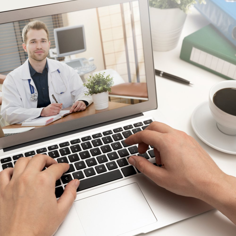 Patient Communicating with Telehealth