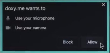 Camera and Microphone Permission Popup