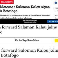 Imprensa internacional repercute chegada de Salomon Kalou ao Botafogo  LANCE!