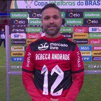 Em goleada, Flamengo faz homenagem para Rebeca, medalha de prata nos Jogos de Tóquio