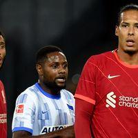 Virgil van Dijk and Joe Gomez made 'important first step' in return against Hertha Berlin, says Jurgen Klopp