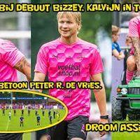 Hattrick bij debuut Bizzey, Kalvijn in topvorm, droom assist Chahid. Eerbetoon Peter R. de Vries.
