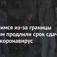Вернувшимся изза границы россиянам продлили срок сдачи теста на коронавирус
