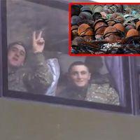 Son Dakika: Ermenistan askerleri yenilgiyi unutup zafer işareti yaptı! Yüzsüzlüğün son noktası!