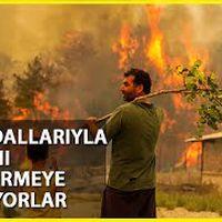 Köylülerin Ağaç Dallarıyla Yangın Nöbeti