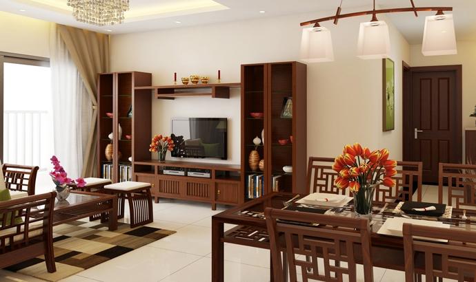 Bộ bàn ghế gỗ phổ biến với người Việt.