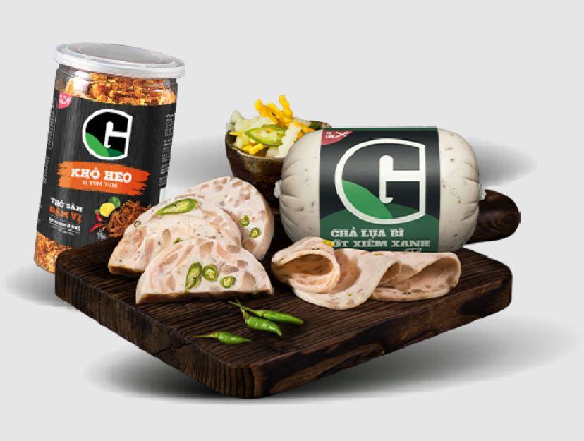 Một số thực phẩm chế biến sẵn của G Kitchen.