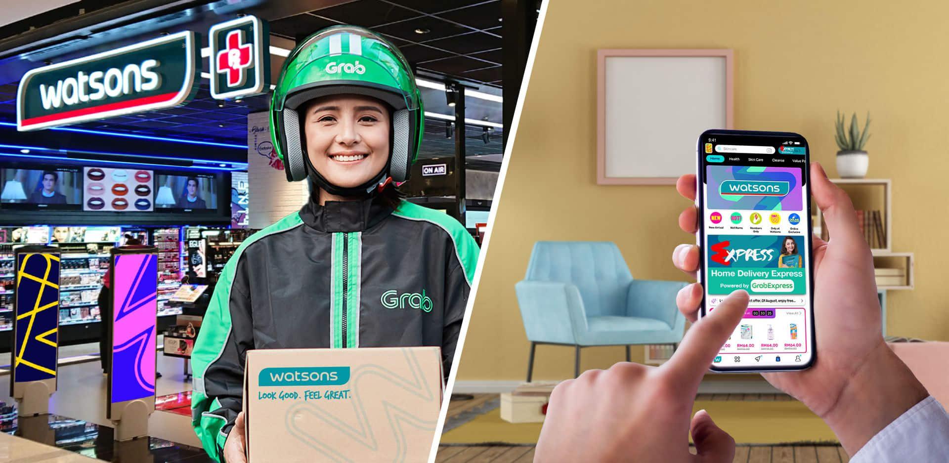 Người Việt có thể mua mỹ phẩm của Watsons trên ngay trên ứng dụng Grab