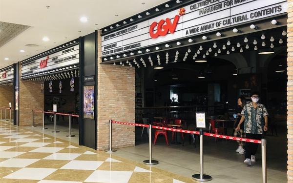 Chuỗi rạp CGV buộc phải đóng cửa nhằm đảm bảo công tác phòng chống COVID.