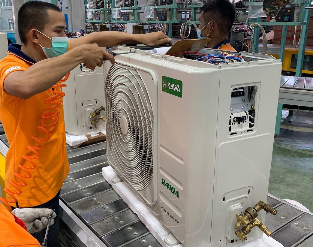 Bên trong dây chuyền sản xuất của thương hiệu Hikawa tại Thái Lan.