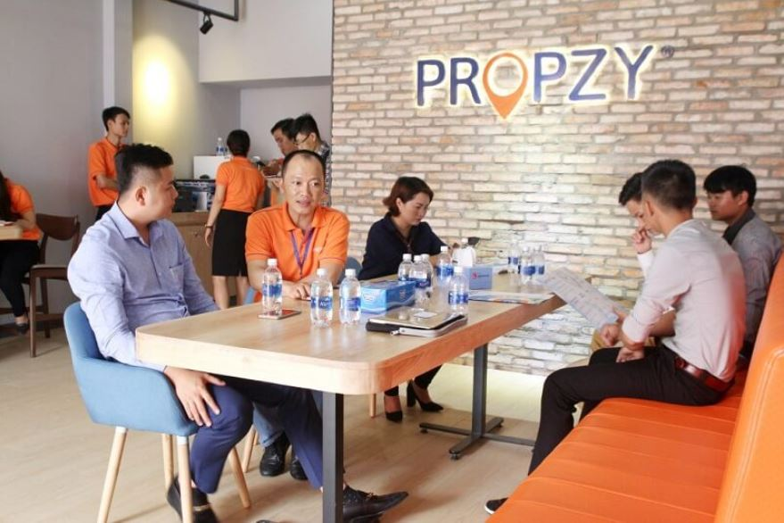 Propzy đã phủ sóng khắp thị trường Hồ Chí Minh sở hữu hơn 22 trung tâm giao dịch với gần 800 nhân viên.