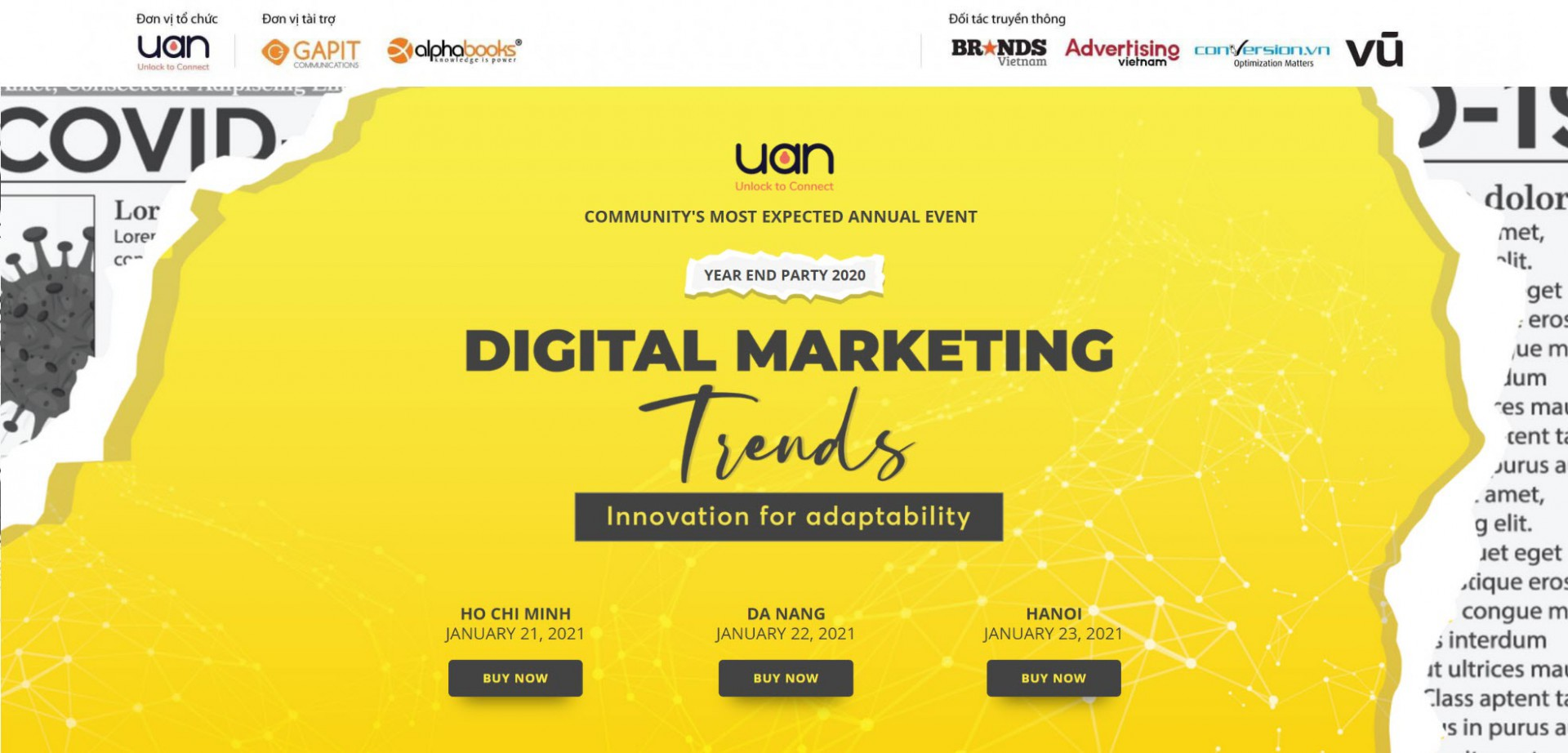 UAN Year-end Party 2020: 'Digital marketing trends: Innovation for Adaptability'