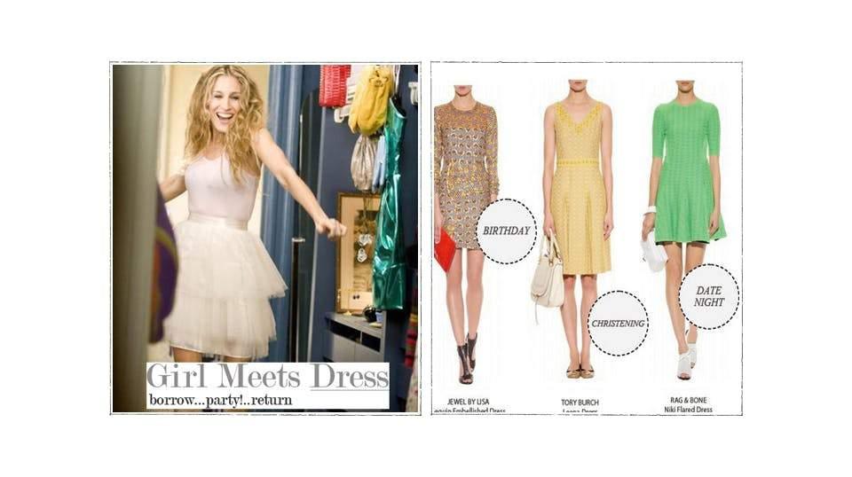 Ứng dụng cho thuê đồ Girl Meets Dress.