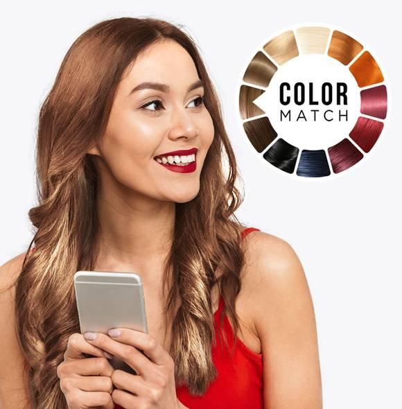 Công nghệ làm đẹp của Garnier sẽ tư vấn màu tóc phù hợp cho khách hàng.