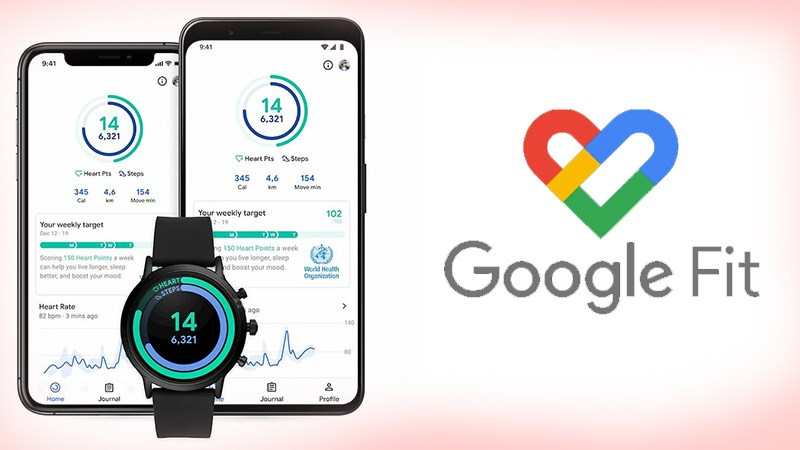 Giao diện ứng dụng Google Fit.