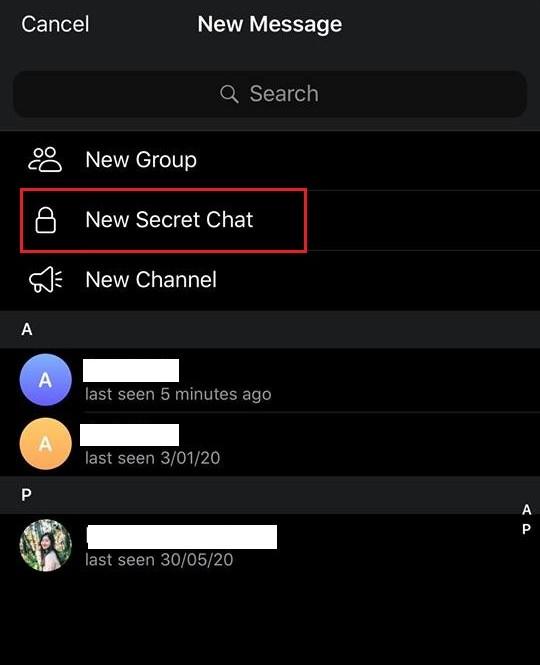 """Secret Chat"" của Telegram."