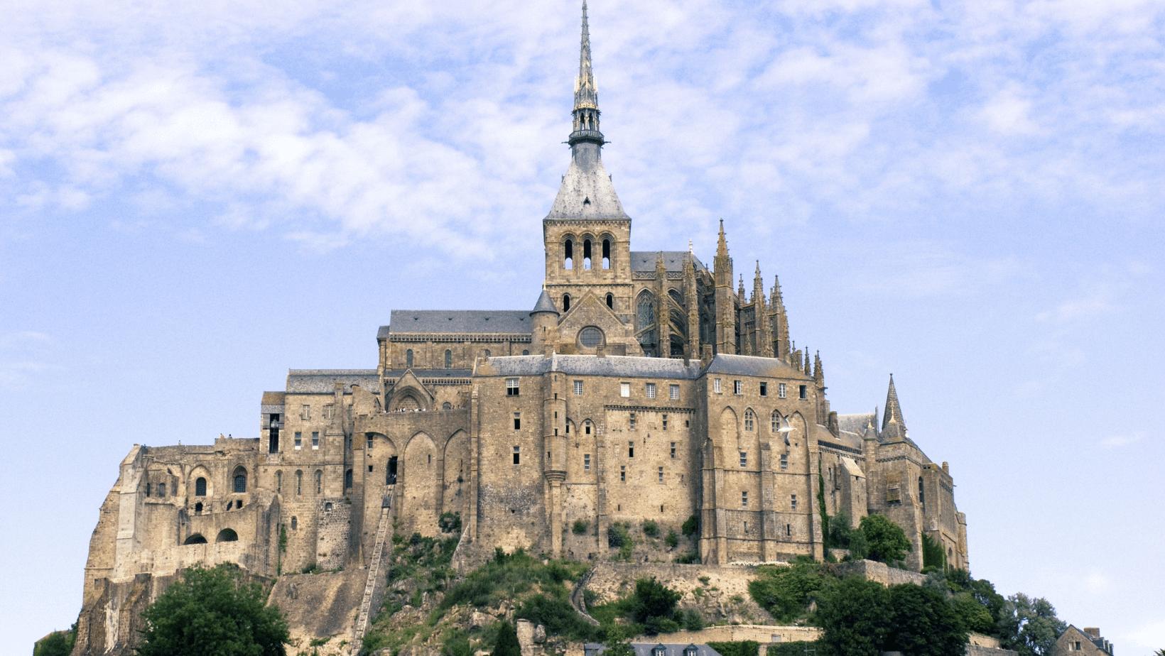 The castle in Mont Saint Michel
