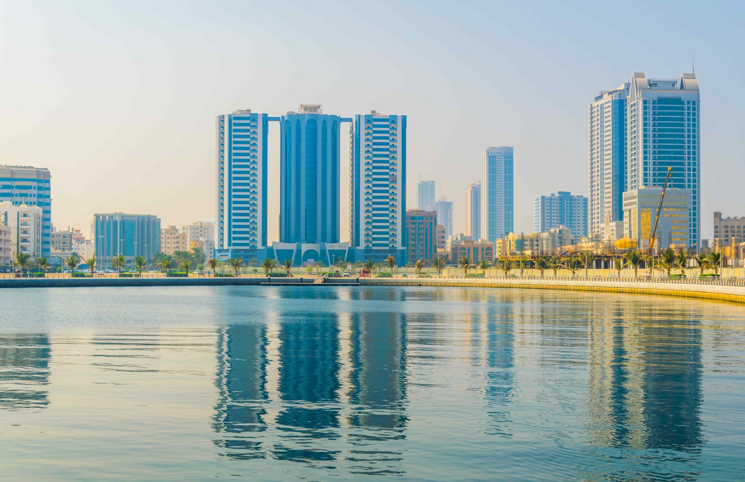 Skyline of Ajman over a sunny day