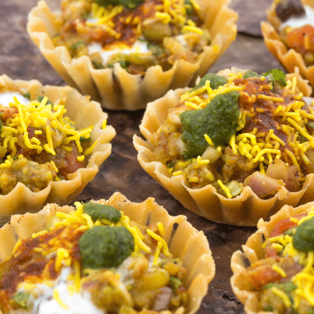 Chaat in canapes