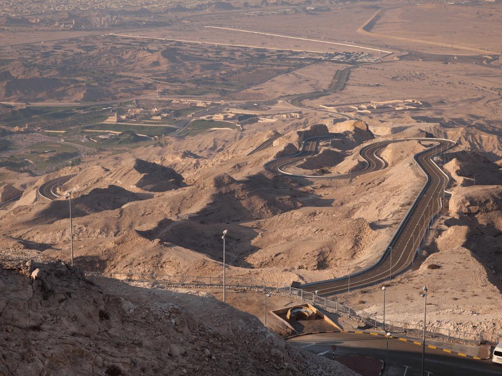 Top view overlook Jebel Hafeet Al Ain