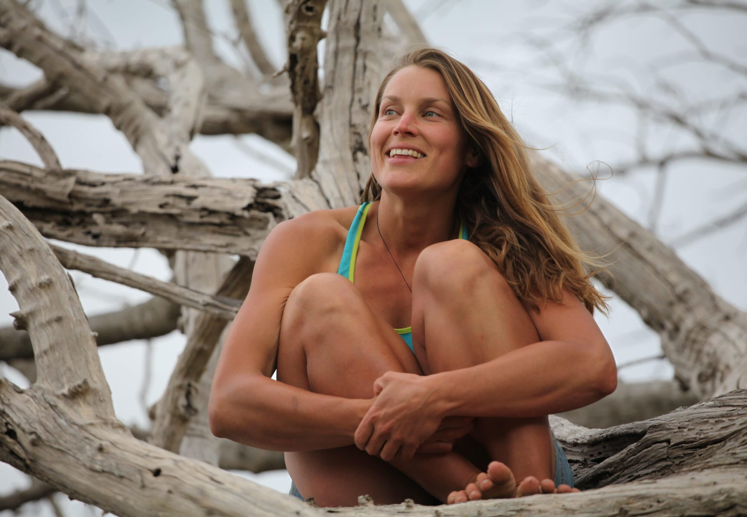 Miriam Lancewood looking ahead with legs and hands crossed
