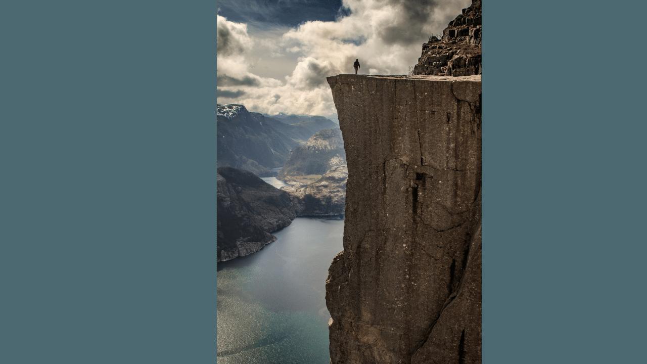 Majestic Preikestolen Pulpit Rock, and the fjord Lysefjorden, Stavanger, Norway