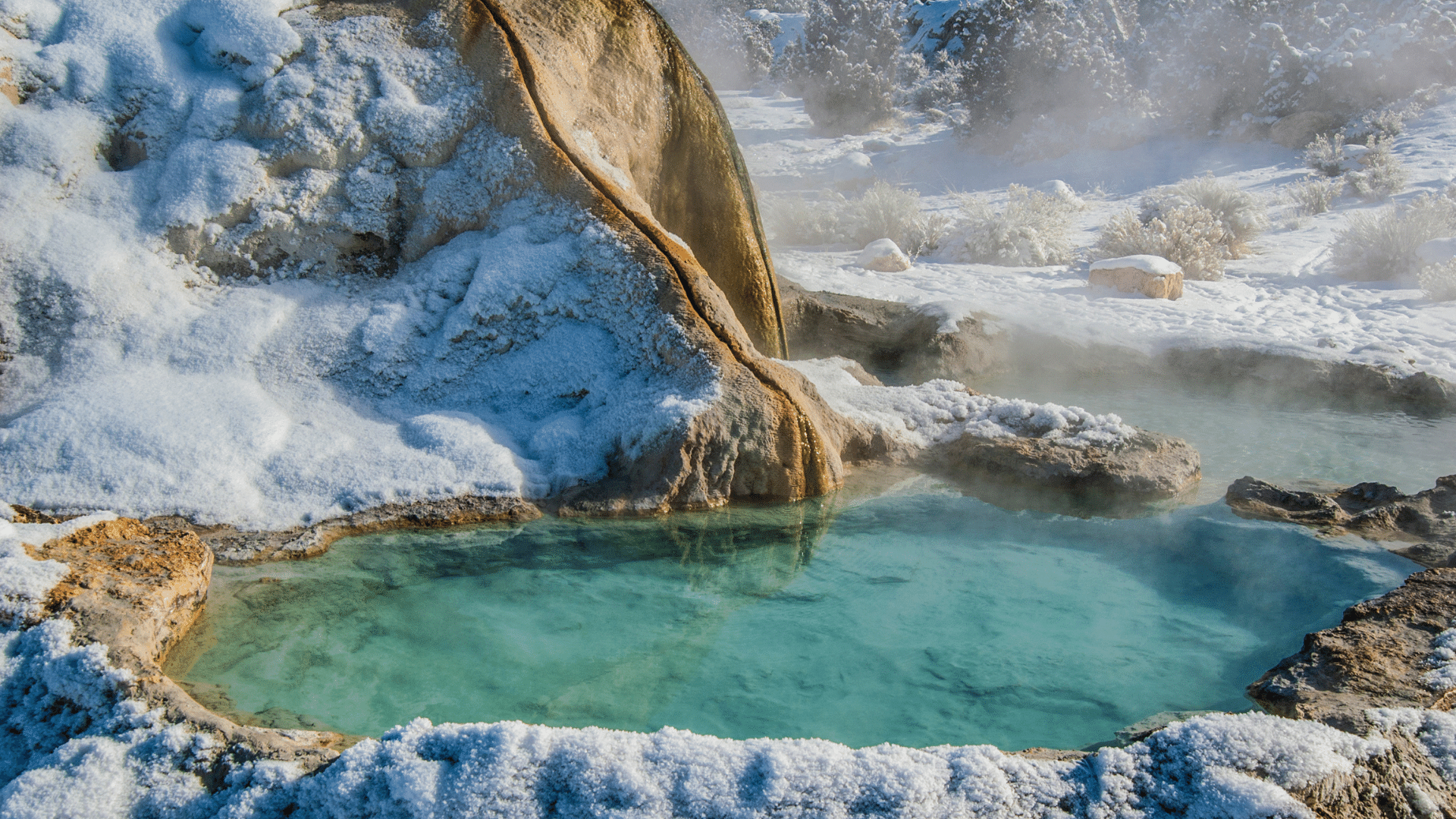 Small hot spring in the eastern Sierra Nevada Mountains near Bridgeport, California.