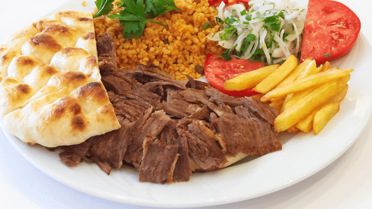 Turkish Doner on a plate