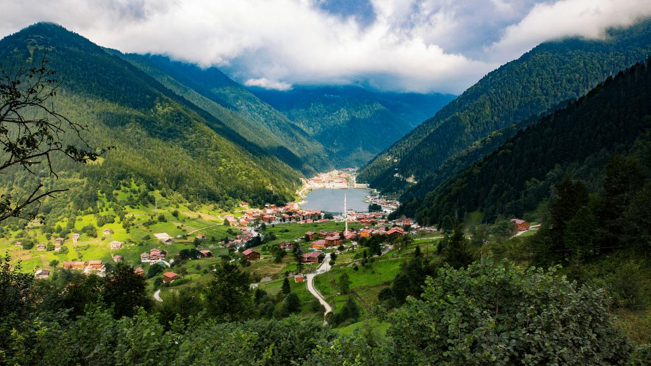 Greeny lush mountains of Trabzon