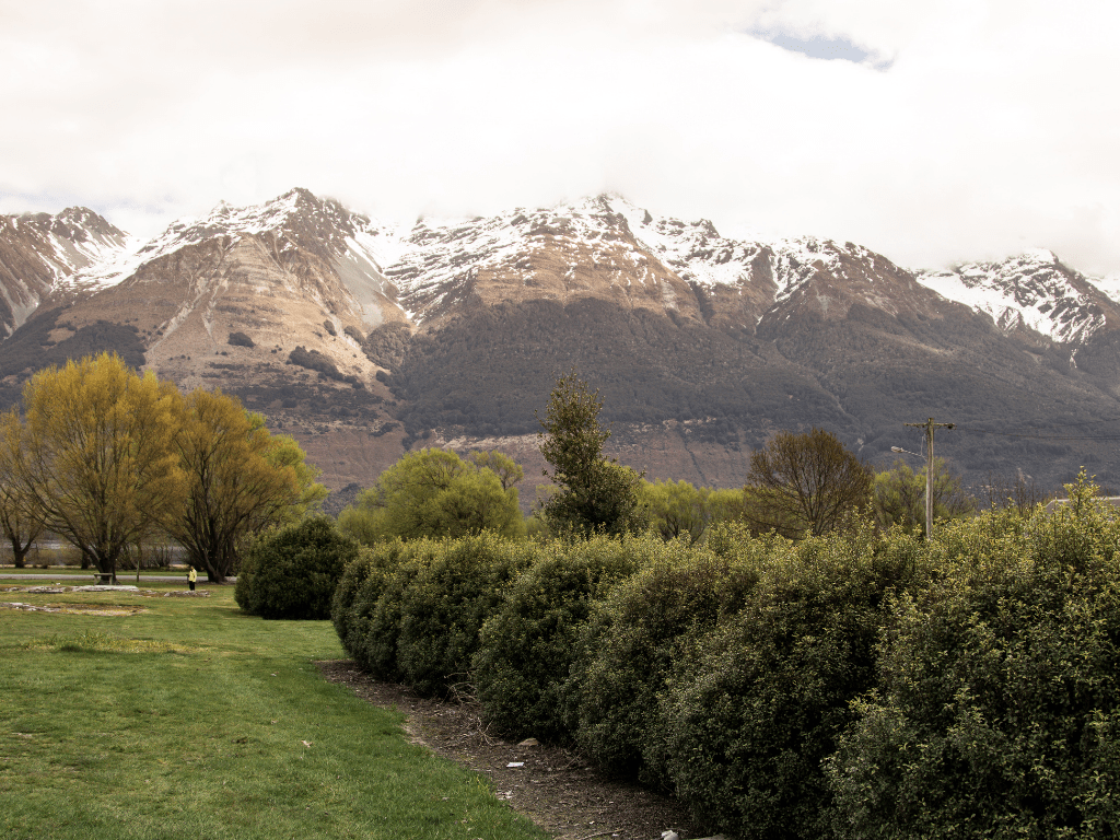 Glenorchy overlooking on a sunny day