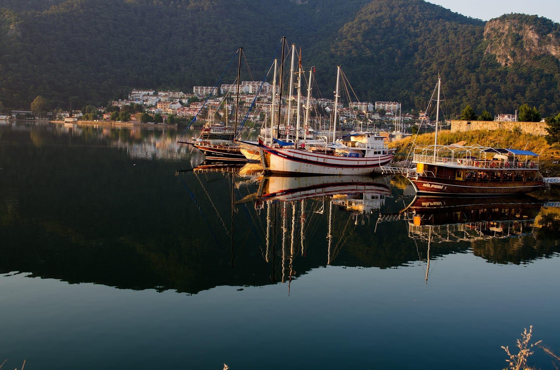 Fethiye sea harbor