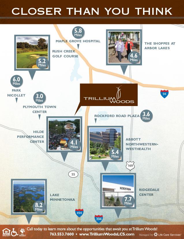 Trillium Woods community map