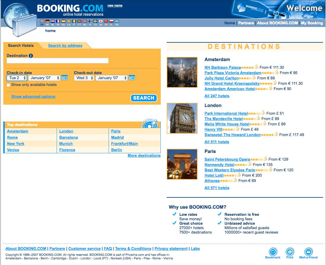 Booking.com 2007