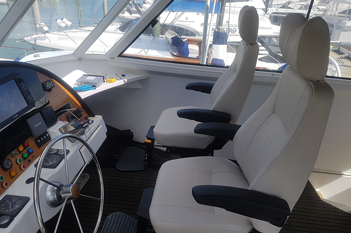 Marine seat refurbishment lets owners kick back for the summer 1
