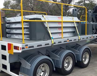 Crane pads loaded secure