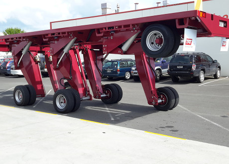 Lift any axle avoiding obstacles on site