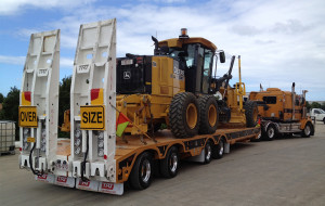 Quad Axle Widening Low Loader 2 rear steer axles clear cut