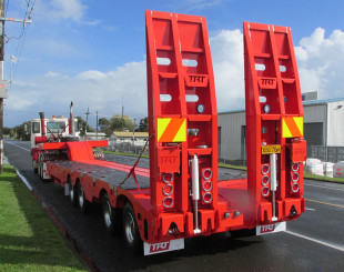 1 TRT Quad 4x4 low loader trailer NZ rear view 1