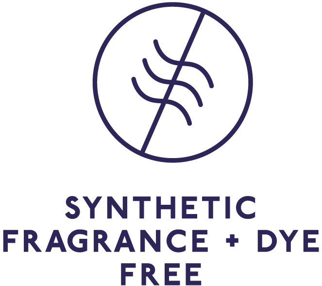 SYNTHETIC FRAGRANCE + DYE FREE
