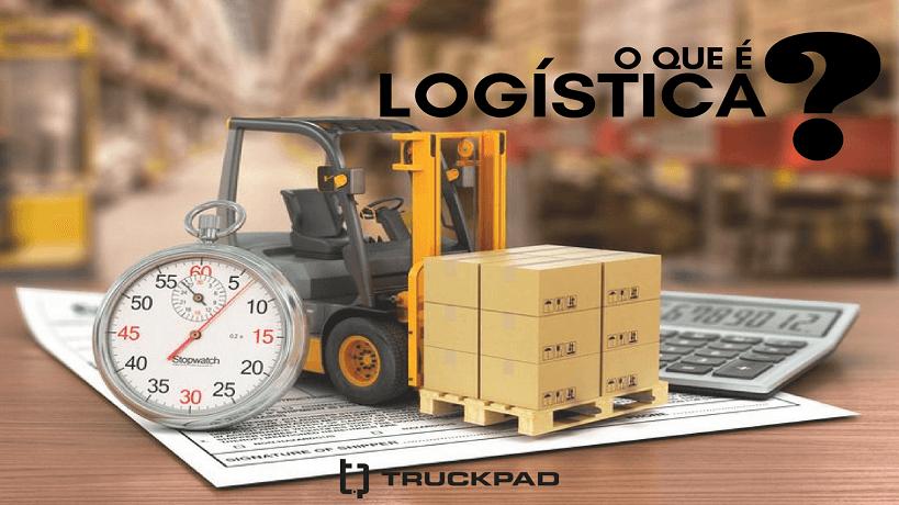Empilhadeira caminhão com caixas e cronômetro no armazenamento
