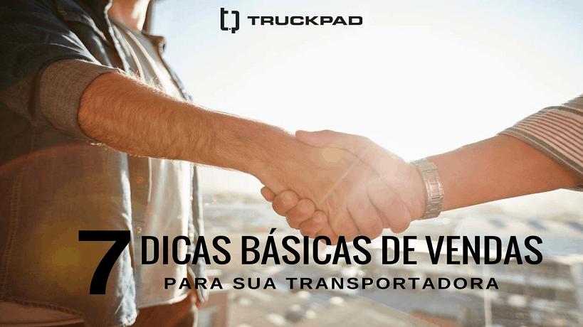 Vendas para transportadora