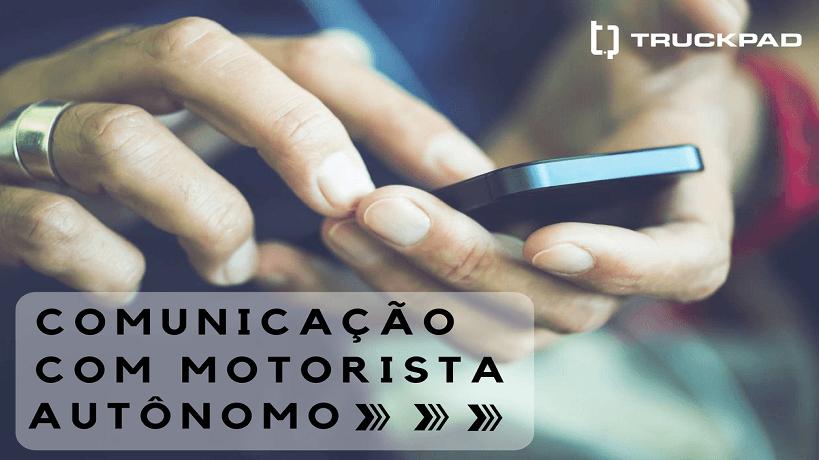 comunicar motorista autônomo
