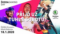 Vyvrcholení turnaje o 60 000 Kč už tuto sobotu na Škoda Gaming Day